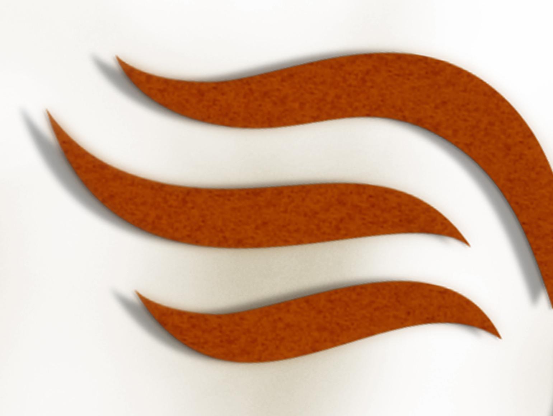Ausschnitt aus dem Logo der Sattlerei Lüders - 3 rostbraune Schwingen