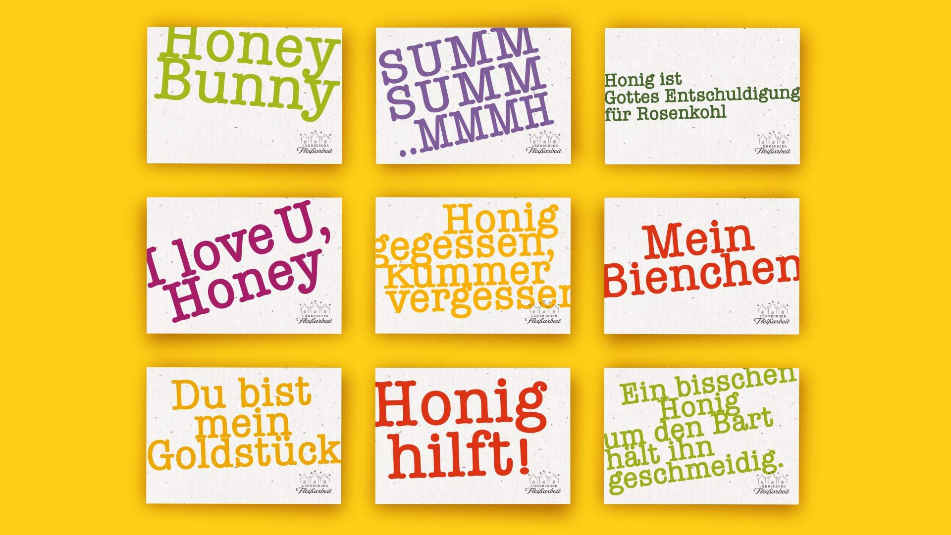 Werbemittel Postkarten Lüneburger Fleissarbeit