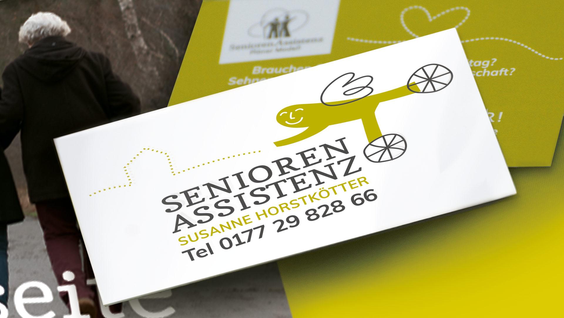 Visitenkarte der Seniorenassistenz Susanne Horstkötter