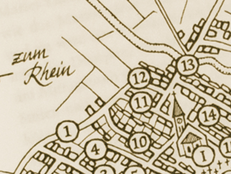 """Illustration einer Ortskarte für das Buch """"Und doch ist es Heimat"""""""