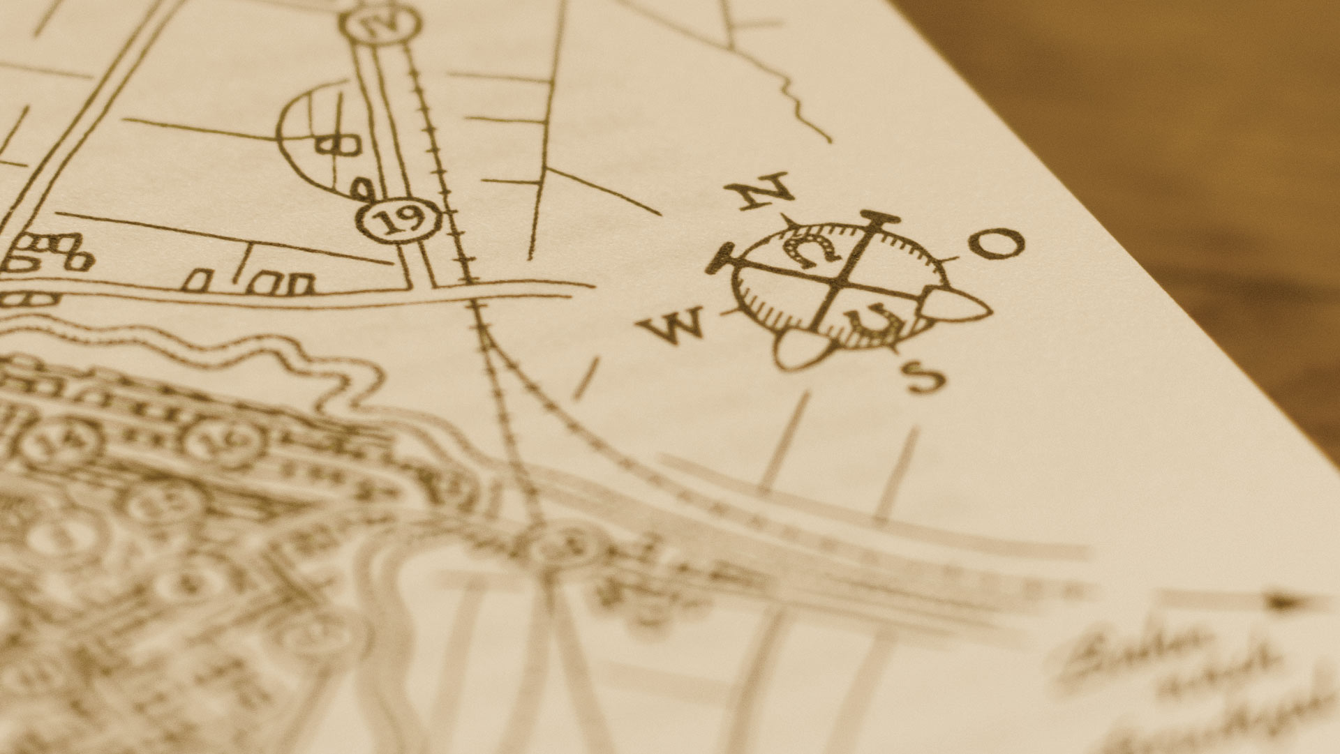 """Ausschnitt der illustrierten Dorfkarte des Buches """"Und doch ist es Heimat"""" von Jochen Metzger"""